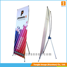 Manufacture aluminum super quality luxury x stand banner