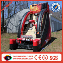 Factory supply kids inflatable basketball shooting machine