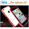 Love Mei brand double color bumper case AL metal phone accessories for iphone, for iphone 5C 8 colors