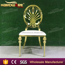 New event design Wedding hotel golden stainless steel dining Chair