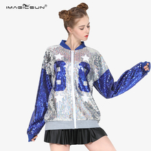 High quality bomber jacket wholesale sequins ladies evening sequin jackets women