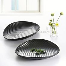 WKP009 Wholesale fast food buffet restaurant Melamine oval plates