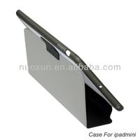 High quality pu leather smart cover case for ipad mini