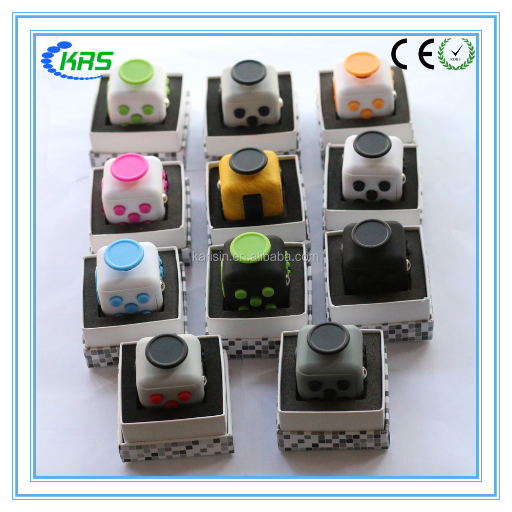 Hot sale 11 colors Desk toys fidget cube for christmas relieves stress cub