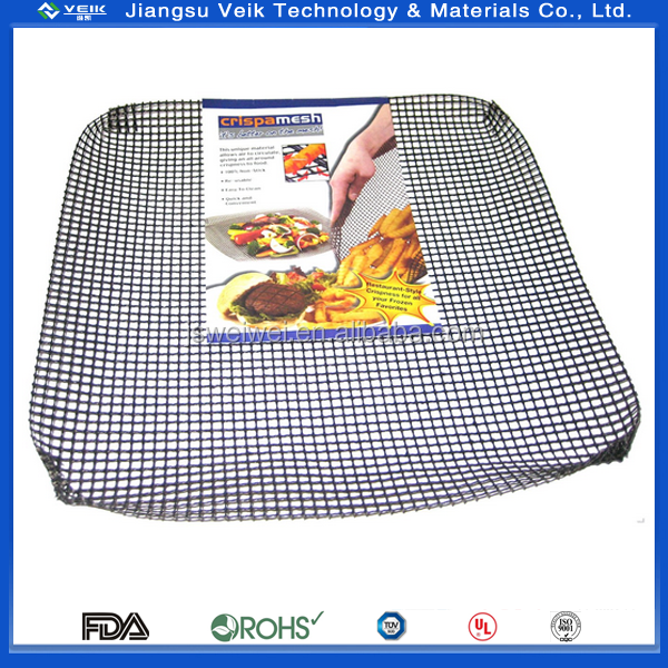 NEW REUSABLE NON-STICK COOKING MESH BAKING TRAY RECTANGLE GRILLING COOKING BRN