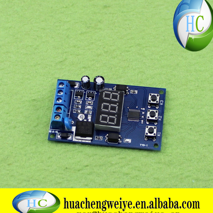 MOS tube control board instead of relay module 1224V trigger cycle timer delay switch