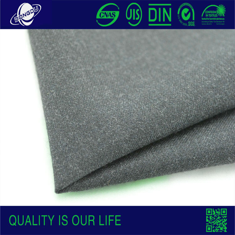 Polyester and wool fabric Ready goods W85/P15wrosted wool fabric