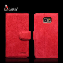 Factory leather phone wallet case for galaxy note 5