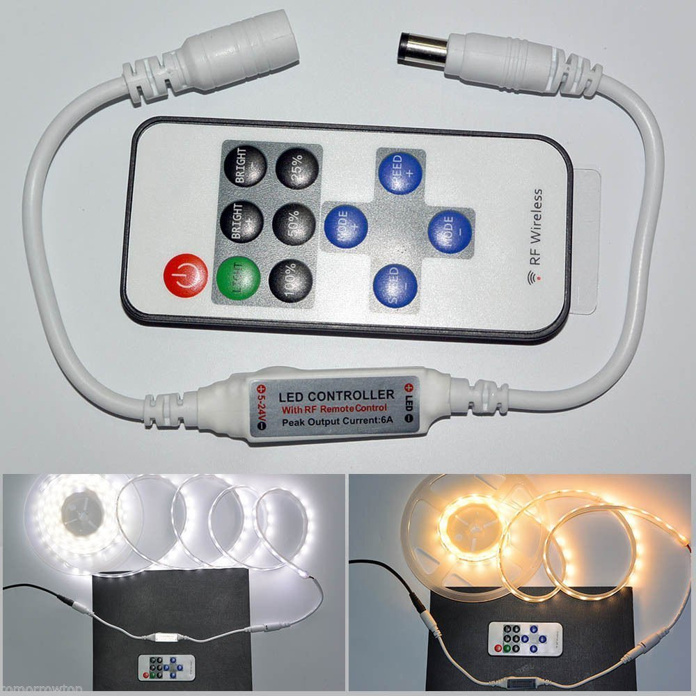 High quality 12v 24 Led Strip Remote Controller For 3528 5050 Rgb Led Strip Light