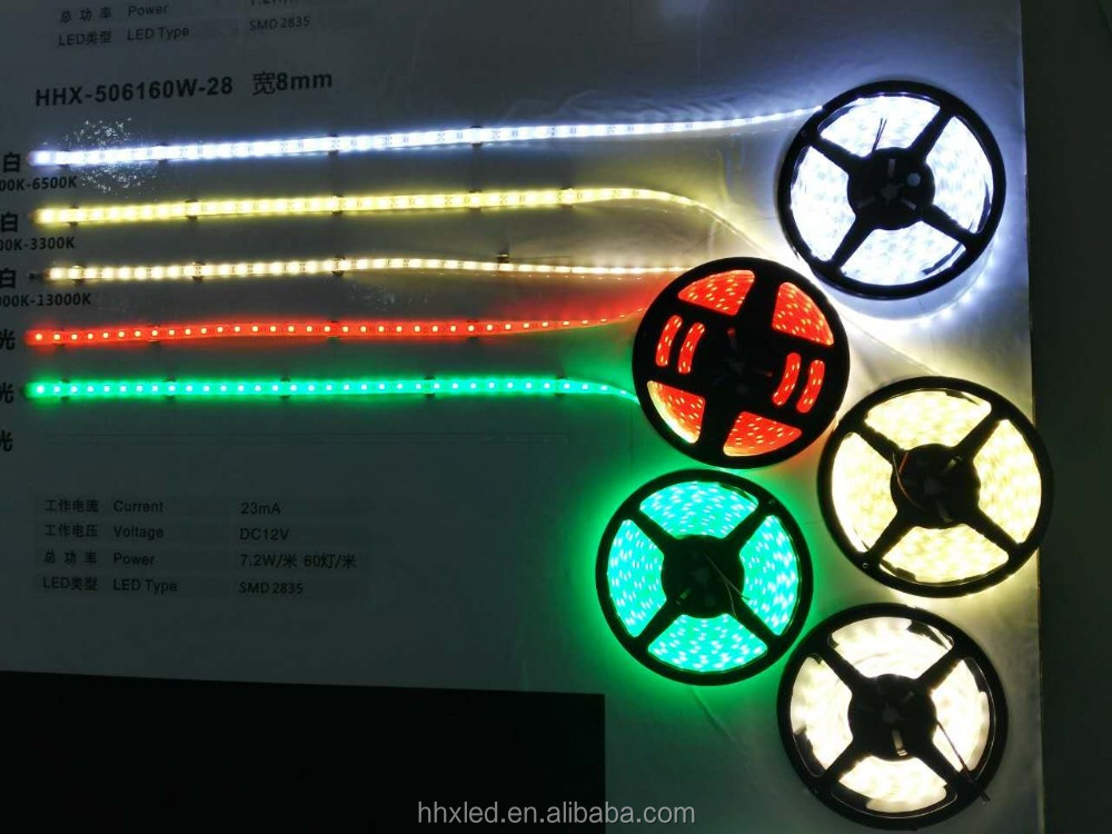 Outdoor hhx led SMD 5050 DC12V IP68 rgb flexible led strip
