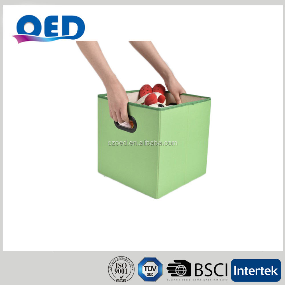 OED Non-woven Foldable Storage Boxes Cube 30*30*30cm Green A38