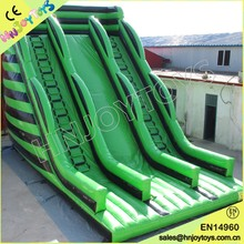 Large Green Inflatable Slip and Slide, Inflatable Double Lane Slip Slide