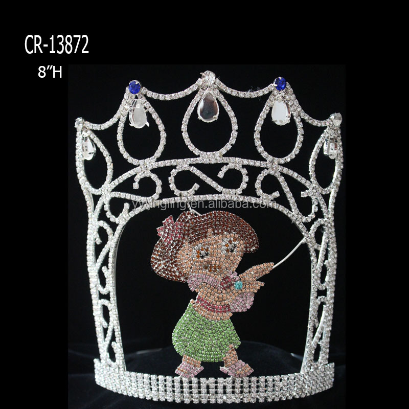 Summer Holiday Custom Girl Rhinestone Crowns Happy Dance Hula