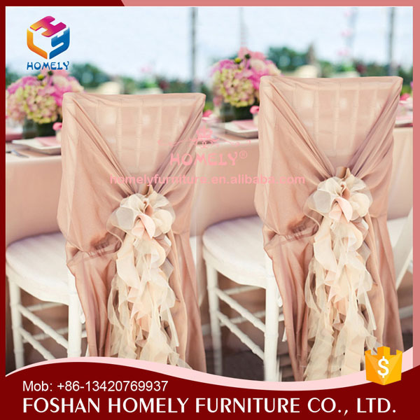 Party used strong round back ruched chair cover HY-W120