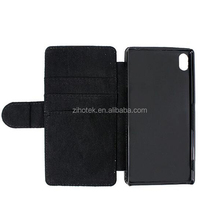 Leather sublimation printing flip phone cover case for Sony Xperia Z3