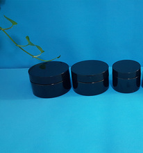black Plastic pickle jars with airless lid