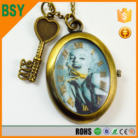Gift Antique Bronze Painting Dial Mechanical