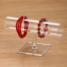 New Transparent Acrylic Bracelet Watch Jewelery Display T- Bar Stand Holder