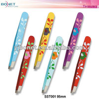 SST001 FDA qualified 2014 best design stainless steel eyebrow tweezers