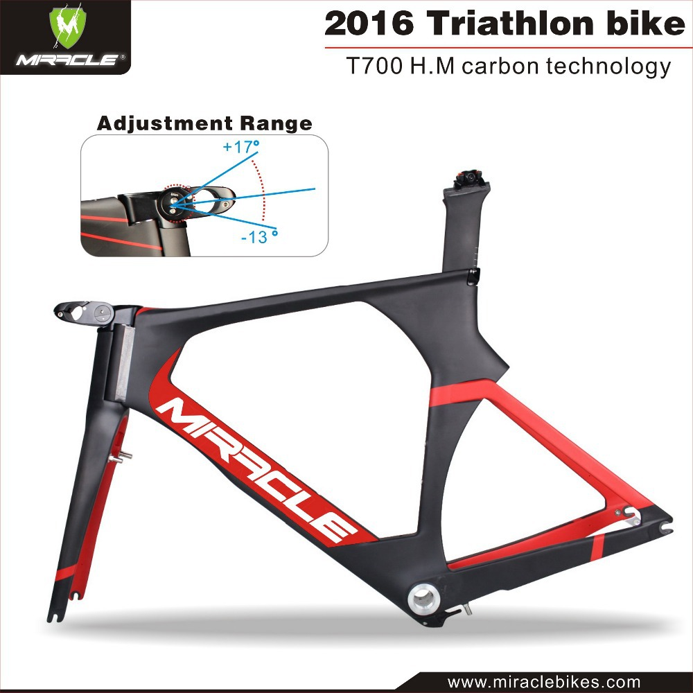 Toray carbon t700 Time Trial bikes frames triathlon carbon bicycle frame adjustable stem time trial carbon bicycle frame