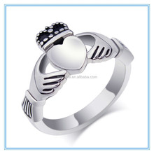 MECY LIF Romantic Hands And Heart Symbol High-Grade Irish Traditional Wedding Ring