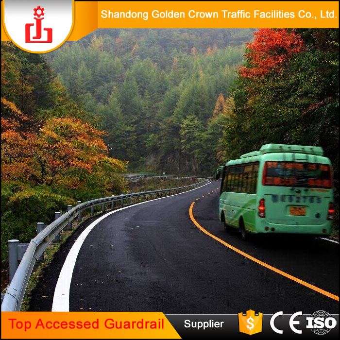 Top Accessed Guardrail Supplier / Trustworthy w beam fence barrier highway road reflector