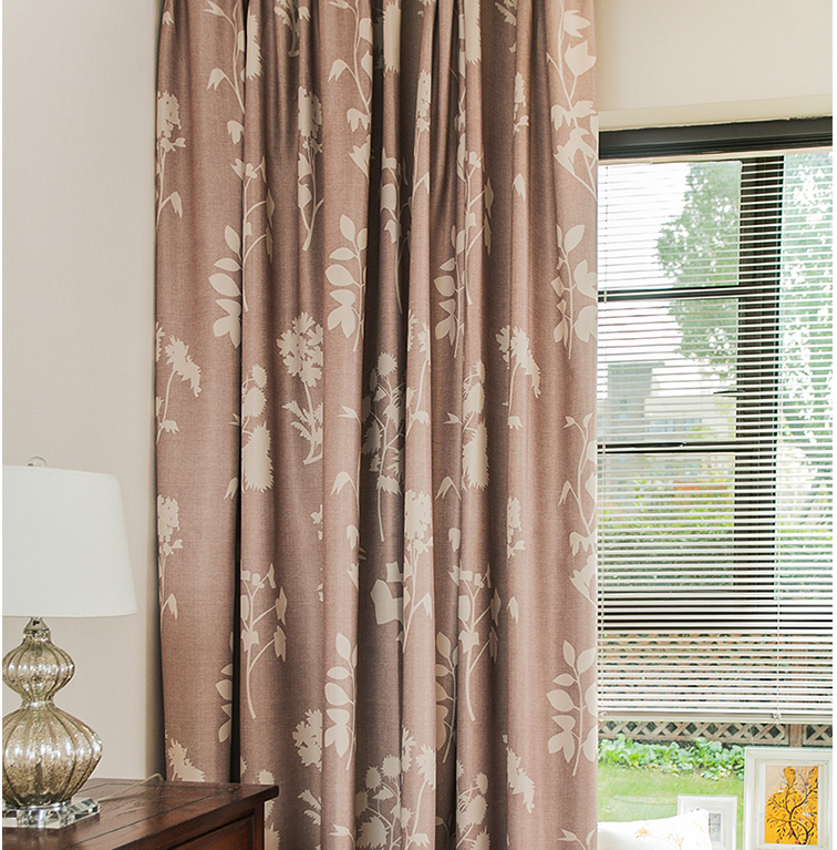 ready made customized printed curtains American style blackout curtains wholesale decorative bedroom curtain