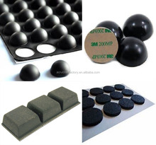 3m self adhesive rubber feet for medical equipment hemispherical dome rubber feet for electronics metal adhesive rubber feet