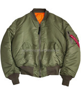 new style us army olive grab fastness good sewing military ma-1 flight jacket