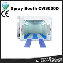 Hot sale and good price CW3000D paint spraying booth with 8KW intake fan