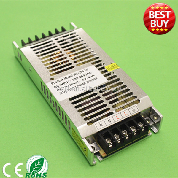 110V 120V to 5V 200W dimmable Constant voltage LED transformer power supply