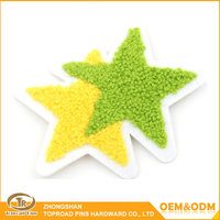 Custom soft chenille patch towel embroidery badge patch with personalized star design