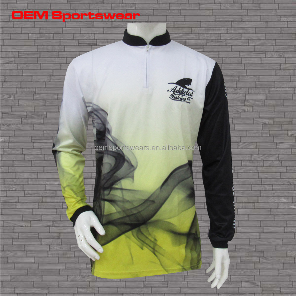 Men 39 s polyester vented fishing shirts uv protection buy for Polyester fishing shirts