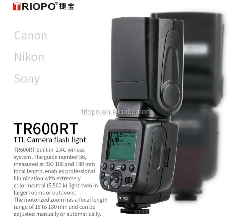 Triopo TR-600RT Universal TTL High Speed Flash Speedlite for Canon & Nikon DSLR Cameras