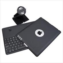 360 Degree Swivel Stand Case + Bluetooth Keyboard for iPad 4 3 2 w/ Stylus/Film
