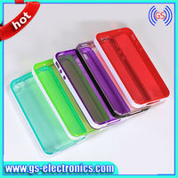 New transparent hybrid PC TPU combo case for iphone 4 4s clear phone case for iphone4 4s