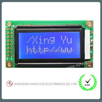Best price 8x2 lcd china character panel display for universal charger