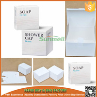 square custom design handmade soap paper box