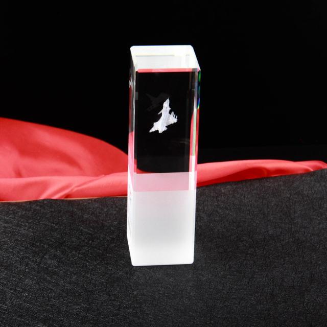 K9 3d laser engraving air plane shape crystal trophy award