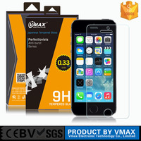 Trade Assurance supplier ! ultra thin 0.33mm/0.2mm tempered glass film screen protector for apple iphone 5 5s