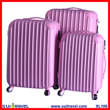 China Alibaba Factory pc abs hard shell travel luggage set