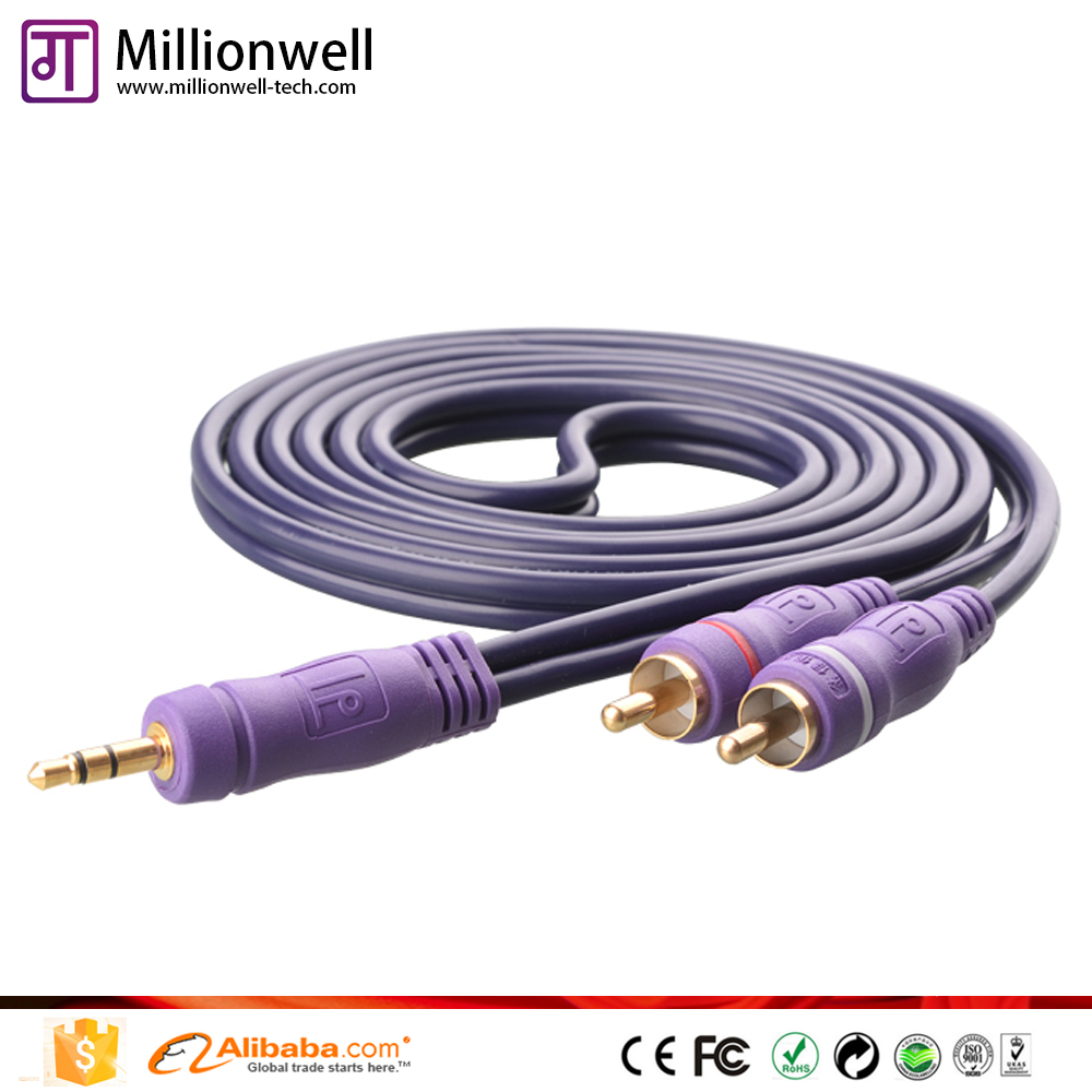 digital audio cable to rca 3.5mm mono audio cable for phone car company