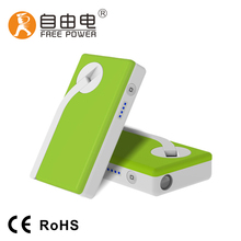 Water-proof Power Bank Permanent Magnet Rechagerble Charger Manual Magnetic Generator Portable Hand Crank Mobile Phone Charger