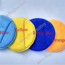 "5"" Microfiber Car Wash Sponge Wax Applicator Pad"