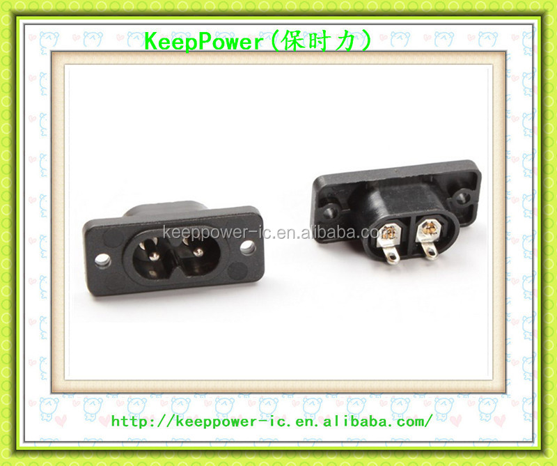 AC power outlet Character socket 8-pin two feet can be welded wire socket power supply two core NK8-3