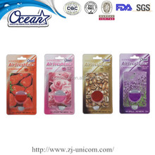 5ml finely processed oil air freshener/ modern design car air freshener/popular car perfume