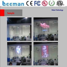 transparent window p10mm glass led screen P8 SMD RGB led module led glass wall brick light