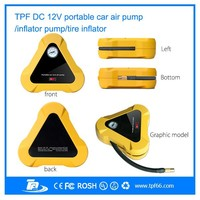 TPF new smart portable mini air compressor 12v car tyre inflator