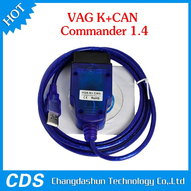 100% original <strong>K</strong>+CAN Commander 1.4 OBD2 Diagnostic Scanner for V-W S-koda Se-at color blue