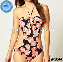 Domi digital print sexy floral monokini swimwear one piece women/www sexy com/photos sexy open